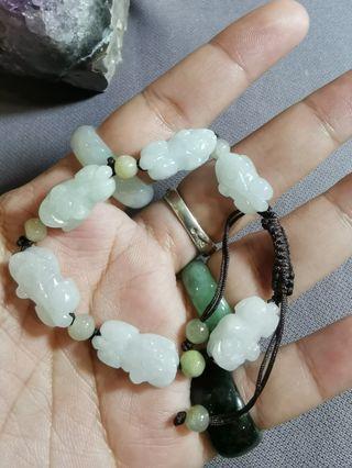 Jadeite Jade Bracelet Pixiu