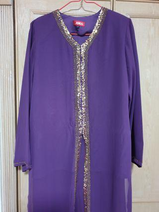 Baju raya Jelita - purple