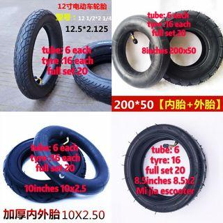 Escooter 8 10 12inches inner tube inner tube tube tyre tyre tyre escooter tube tyre tube tyre