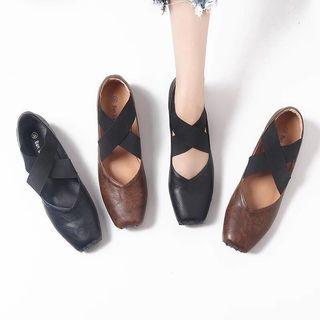 鞋女新款复古平底晚晚鞋绑带仙女温柔单鞋芭蕾舞鞋