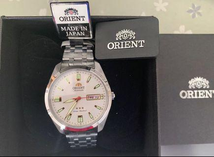 Orient JAPAN Made Automatic 3 star stainless steel men's Watch