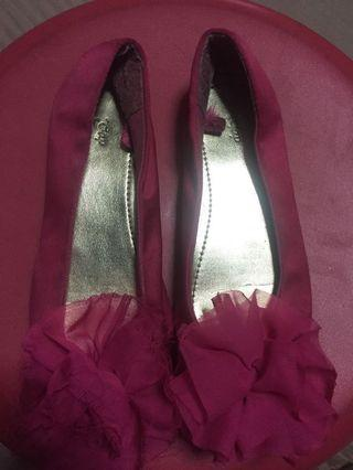 Pink flats for kids