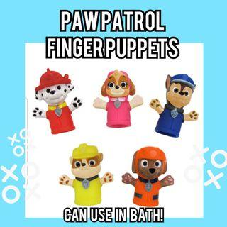 PAW PATROL KIDS Finger Puppets Toy - Can use in Bath