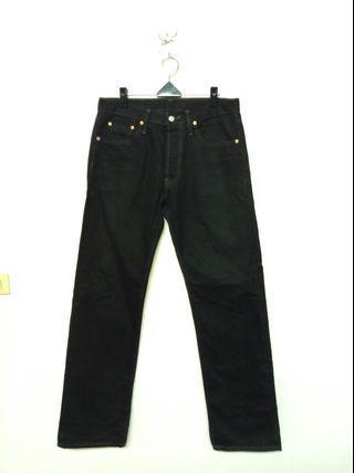 34腰 Levi's 501 排釦 黑色直筒牛仔褲 (190413)