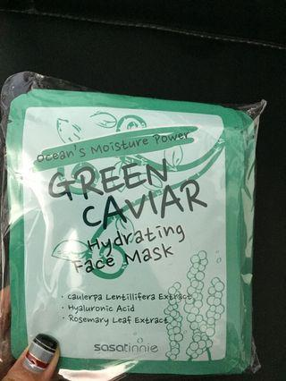 [全新] Sasatinnie Green Caviar Hydrating Face Mask 1包10片