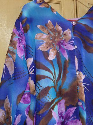 🚚 Baju raya floral