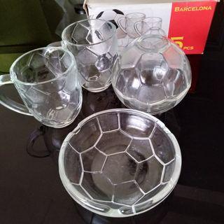 Barcelona Mugs, Bowls (5pcs)