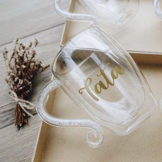 Mug with crystal handle (personalised gift)