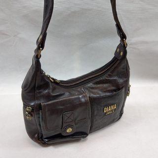 Diana janes 皮革深色手提包 肩背包