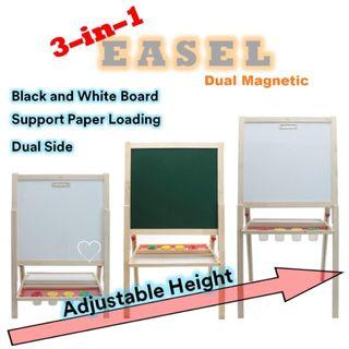 Blackboard whiteboard easel adjustable height
