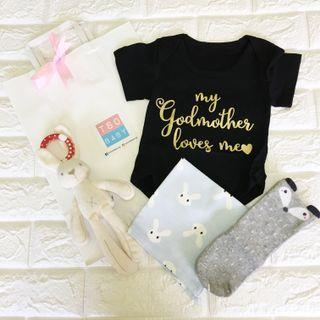 """⭐️Instock⭐️ """"my godmother loves me"""" Baby Gift Set"""
