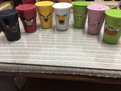 🚚 憤怒鳥雙層陶瓷杯(附立體造型杯蓋)