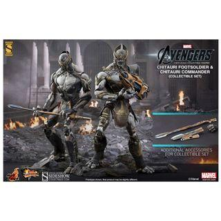 Hot Toys Avengers: Chitauri Commander and Footsoldier 1/6 Scale Figure Set (HT160)