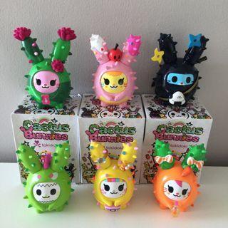 Tokidoki Cactus Bunnies Figurines