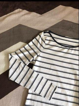 🚚 h&m long sleeve striped tee