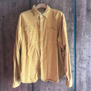 泥黃色燈芯絨恤衫 oversized shirt