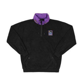 🚚 [L號] Only NY 黑色 紫 拼接 帽T 大學T 搖粒絨 超新二手