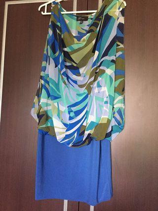 🚚 Renee Army Blue Top/Dress