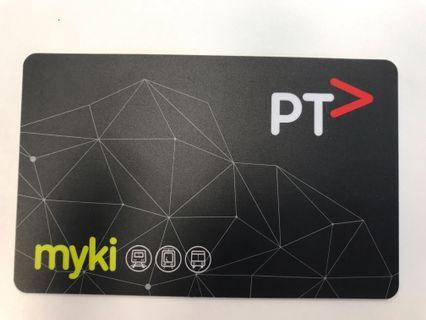 #ENDGAMEYourExcess myki PT card for Melbourne subway