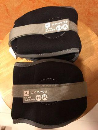 #ENDGAMEYourExcess Domyos 2 x 1.5kg weights for resistance training (with Velcro fasteners)