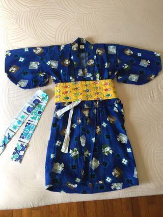 Japanese costume (Hakama) for boys