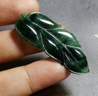 Jadeite Jade Pendant Leaf