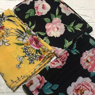 Instock Printed bubble chiffon shawl sale