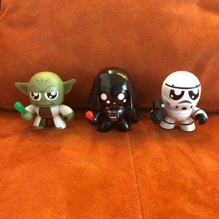 Vintage Star Wars 2010 Exclusive Mini Mighty Muggs Vinyl Figure 3-pack #2 Yoda, Darth Vader and Stormtrooper #EndgameYourExcess