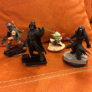 Disney Infinity: Star Wars (3.0 Edition) Boba Fett, Yoda, Darth Vader and Kylo Ren Figures #EndgameYourExcess