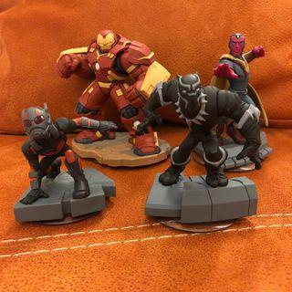 Disney Infinity: Marvel Super Heroes (3.0 Edition) Hulkbuster, Vision, Ant-Man and Black Panther Figures #EndgameYourExcess