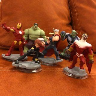 Disney Infinity: Marvel Super Heroes (2.0 Edition) Iron Man, Black Widow, Thor, Hulk, Green Goblin and Falcon Figures #EndgameYourExcess