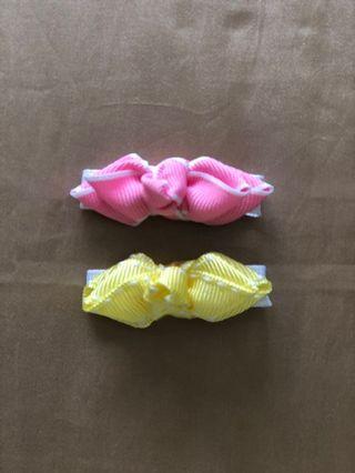 🚚 Baby hair clip / pink bow / pink bow clip/ bow hair clip / alligator hair clip / small bow clip