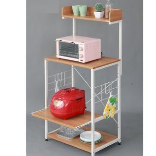廚房置物架-可拉伸層板($598包送貨)微波爐架子廚房置物架落地省空間碗架調料架多層儲物架收納架