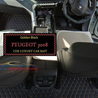 Tailor made luxury car mats Peugeot 3008