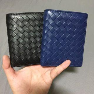 🚚 Calf Leather Woven Wallet