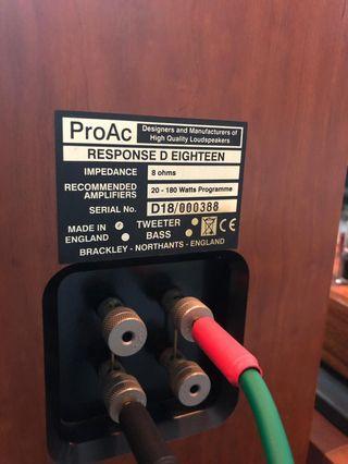 Selling Floorstanding Speaker Proac D18