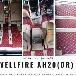 Customised luxury car mat Alphard / vellfire AH20