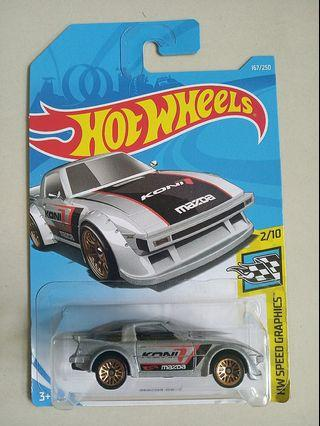 Hot Wheels 2019 Speed Graphics 167 Mazda RX-7 Koni