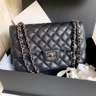 🌈⛄️New Unused Chanel Caviar CF Jumbo Classic Flap Grab ASAP before Sold!