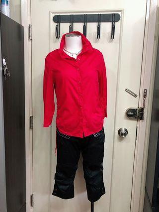 紅色恤衫veeko