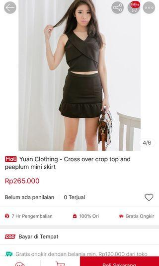 Black set yuan clothing hitam