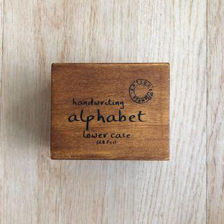 Handwriting alphabet stamp
