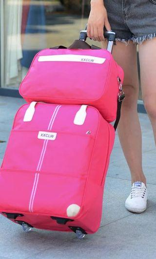 Set Shopping Luggage Hot Pink Large
