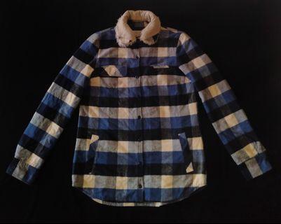 Zara Mens Trafaluc Outerwear Flannel Plaid Padded