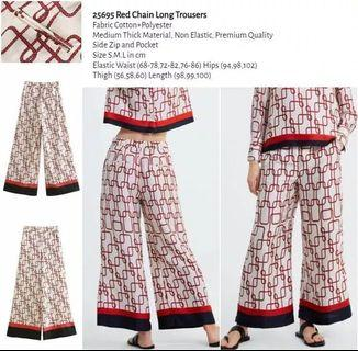 WST 25695 Red Chain Long Trousers