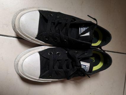 Converse 帆布鞋 黑色低幫