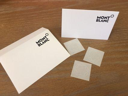 萬寶龍MONT BLANC小卡+貼紙