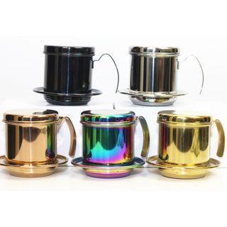 【全新*有5種顏色】不銹鋼越南式咖啡器具手沖泡滴漏壺 家用辦公室 Vietnam Vietnamese Coffee Dripper Maker