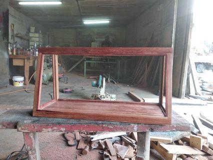 Rack display solid wood