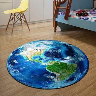 Round Carpet Non slip Globe- Earth- World Map- Planet